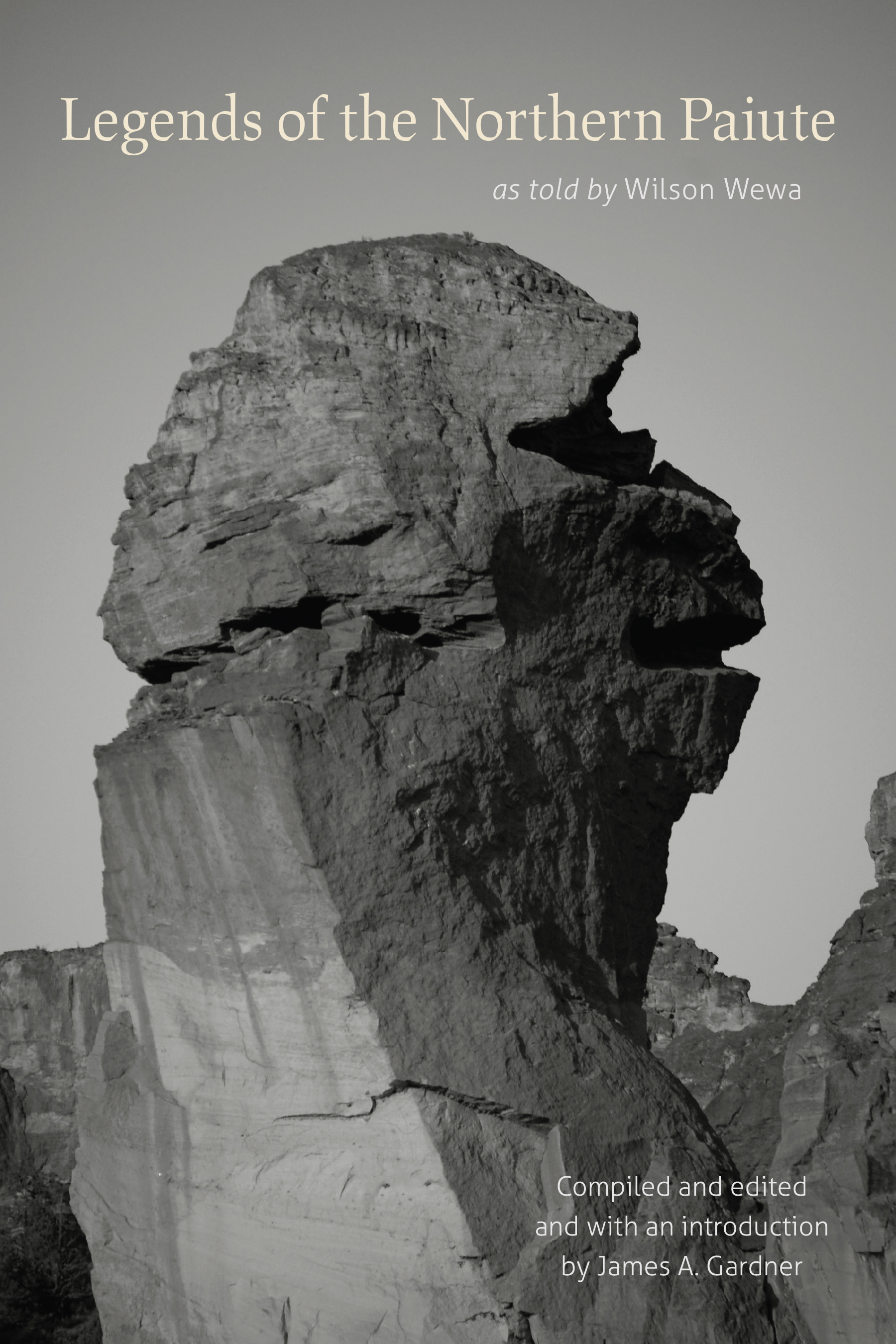 Book cover featuring Smith Rock pinnacle, known as Monkey Face or to the Paiute in Central Oregon as Numuzoho the Cannibal