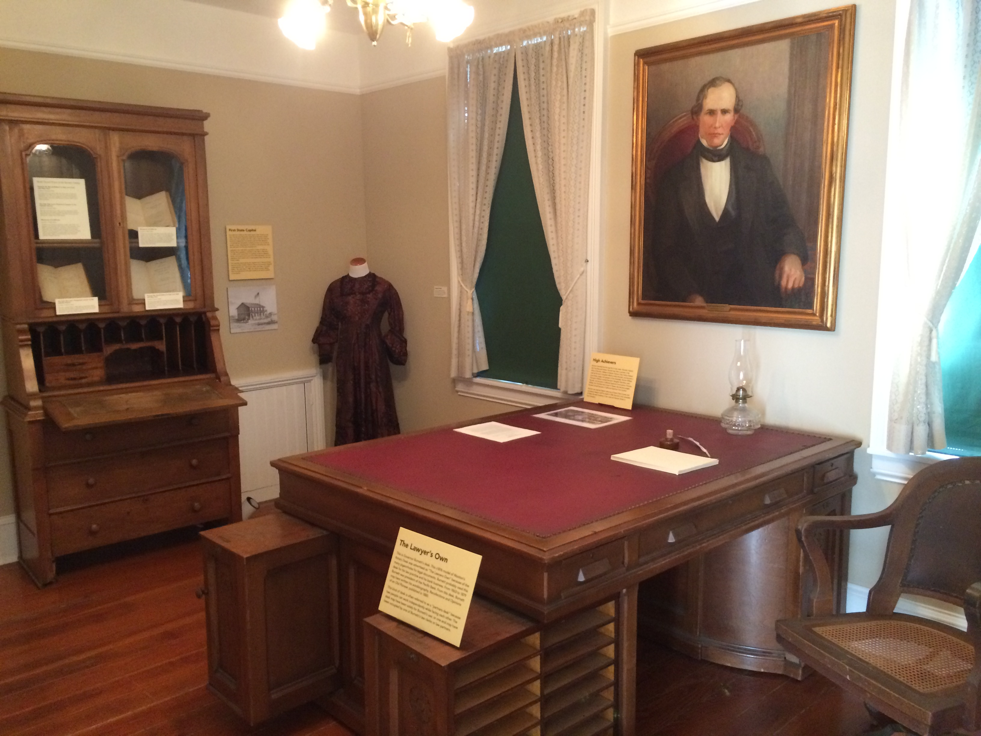 Burnett's desk: Finally a lead (Courtesy of Judge Paul Bernal, museum chair and official historian of the City of San Jose)