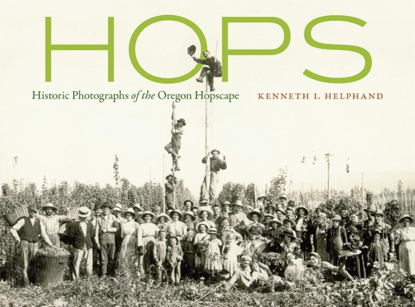 Pickers with men on poles, 1930