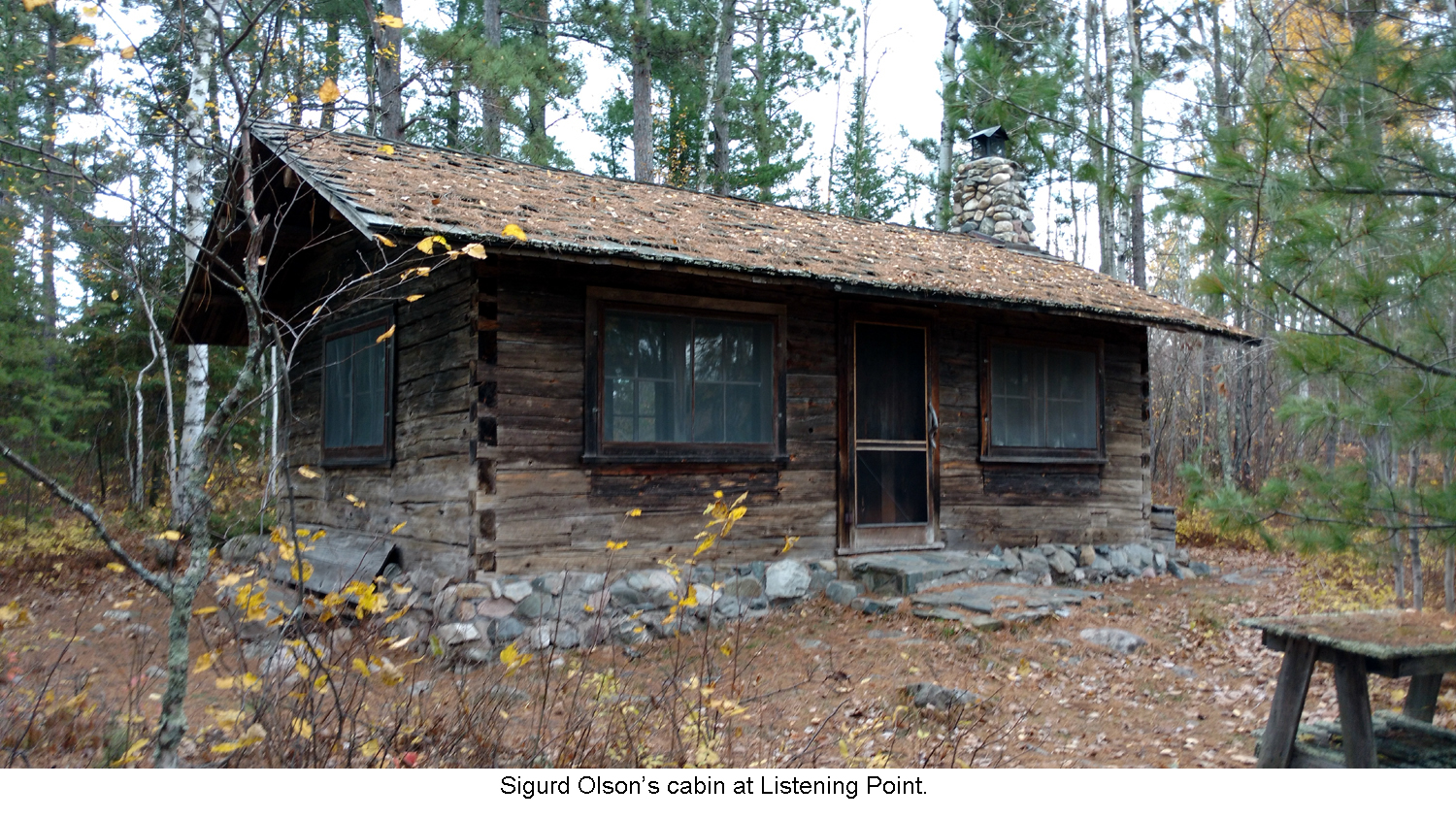 Sigurd Olson's cabin at Listening Point