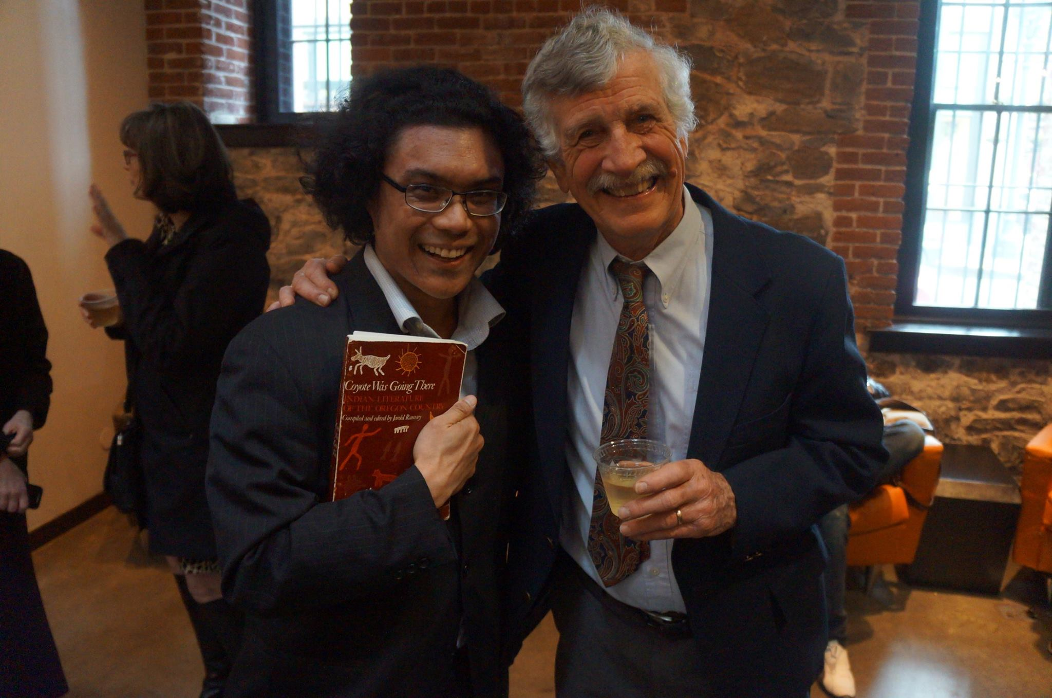 Armin Tolentino (left) with Jarold Ramsey. (Photograph: Laura Stanfill)