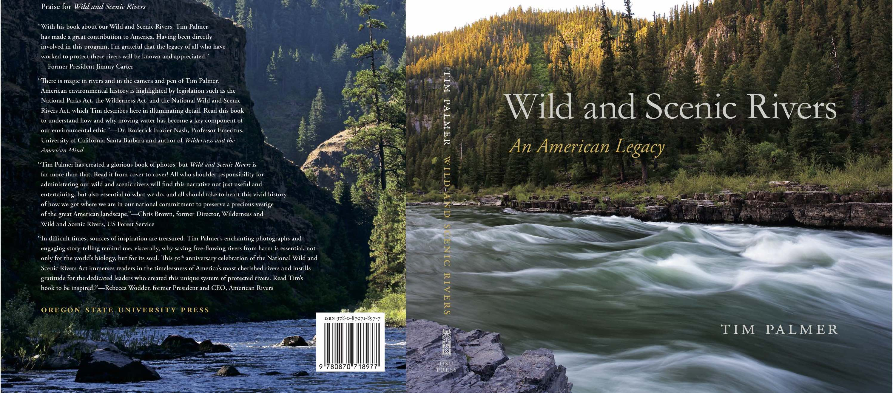 Cover of book including photo of Snake River